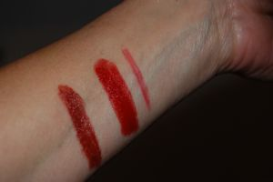 Lipstick swatches dramatic