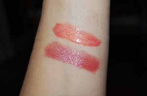 Extreme Sheen Lush (top) Rouge Femme Fresco (bottom)