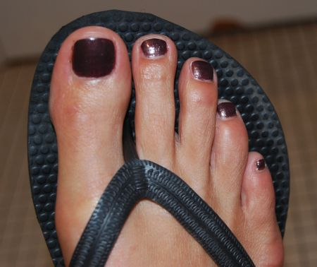 Dior on toes