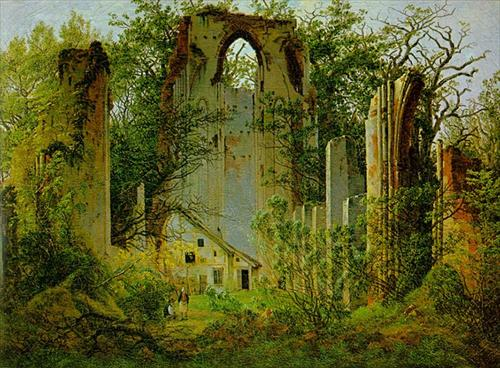 Eldena Ruin by Caspar David Friedrich